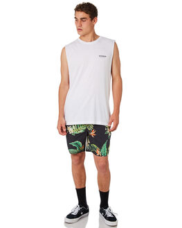 WHITE MENS CLOTHING AFENDS SINGLETS - M184084WHT