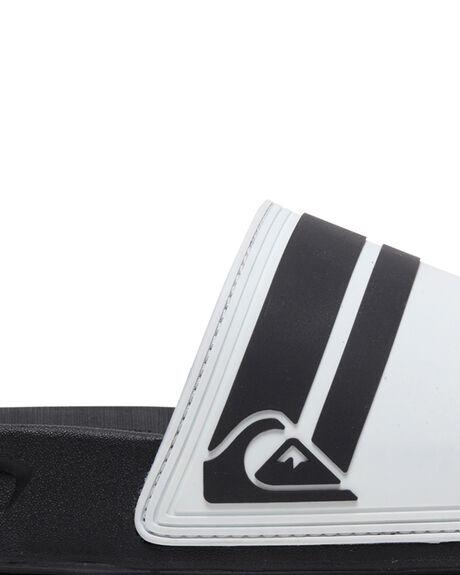 WHITE/BLACK/WHITE MENS FOOTWEAR QUIKSILVER SLIDES - AQYL100867-XWKW