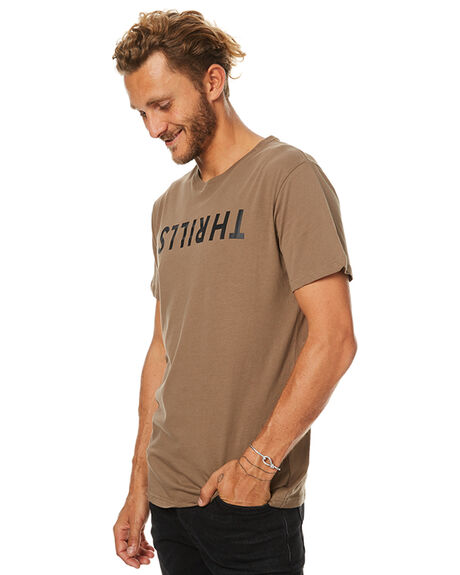 DESERT SAND MENS CLOTHING THRILLS TEES - TW7-101FDSAND