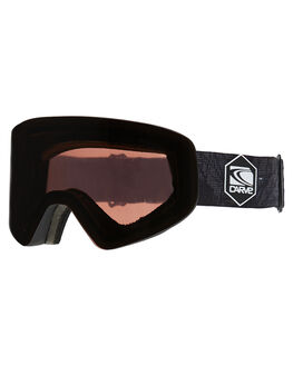 MATT BLACK ROSE TREE BOARDSPORTS SNOW CARVE GOGGLES - 6076MBLKR