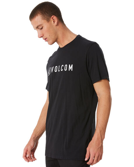 BLACK MENS CLOTHING VOLCOM TEES - A35117G7BLK