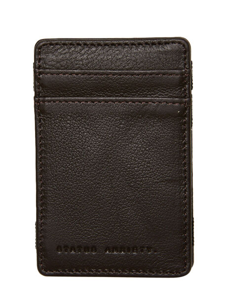 CHOCOLATE MENS ACCESSORIES STATUS ANXIETY WALLETS - SA2012CHOC