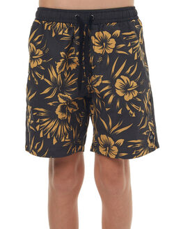 BLACK KIDS BOYS SWELL BOARDSHORTS - S3171235BLK