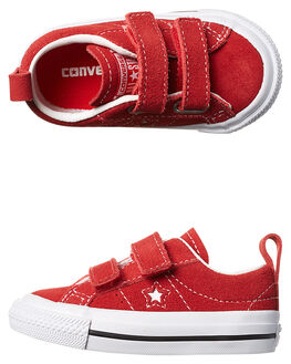 RED WHITE KIDS TODDLER GIRLS CONVERSE FOOTWEAR - 756133RED