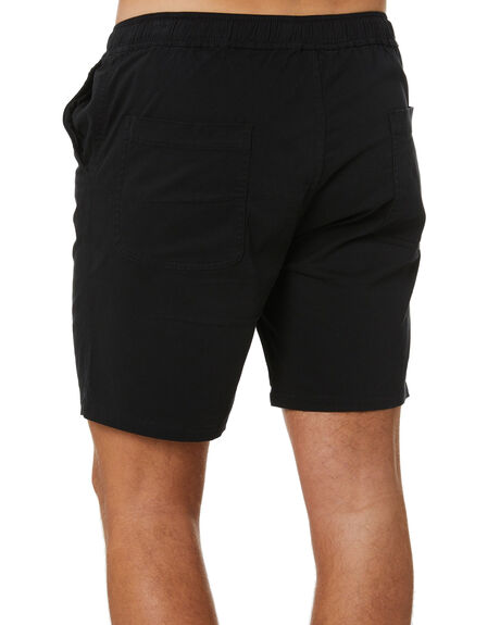 BLACK MENS CLOTHING STAY SHORTS - SWA-1901BLK