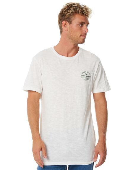 WHITE MENS CLOTHING RHYTHM TEES - APR18M-PT05WHT