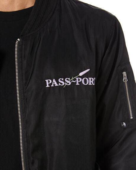 BLACK MENS CLOTHING PASS PORT JACKETS - PPLAVJACKETBLK