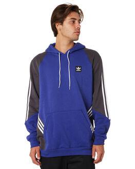 BLUE GREY WHITE MENS CLOTHING ADIDAS JUMPERS - DU8384BGW