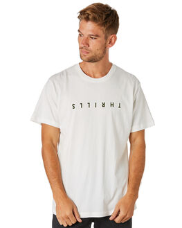 DIRTY WHITE MENS CLOTHING THRILLS TEES - TS8-114ADTWHT