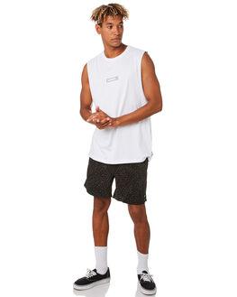 WHITE MENS CLOTHING RUSTY SINGLETS - MSM0260WHT