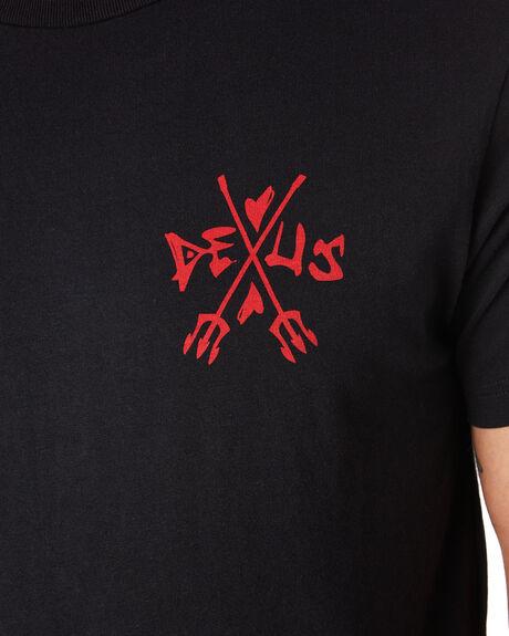BLACK MENS CLOTHING DEUS EX MACHINA TEES - DMF91896DBLK