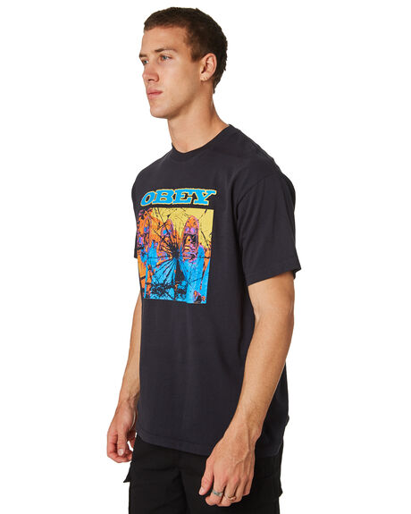 OFF BLACK MENS CLOTHING OBEY TEES - 166911860OFBLK
