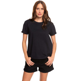 TRUE BLACK WOMENS CLOTHING ROXY TEES - ERJZT04779-KVJ0
