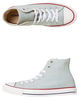 LIGHT BLUE WHITE WOMENS FOOTWEAR CONVERSE SNEAKERS - SS161491BLUW