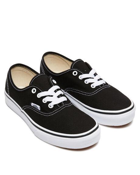 BLACK WHITE KIDS BOYS VANS SNEAKERS - VN-0WWX6BTBLKW