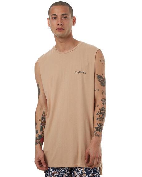 PIGMENT WHEAT MENS CLOTHING ZANEROBE SINGLETS - 141-LYKMPWHT