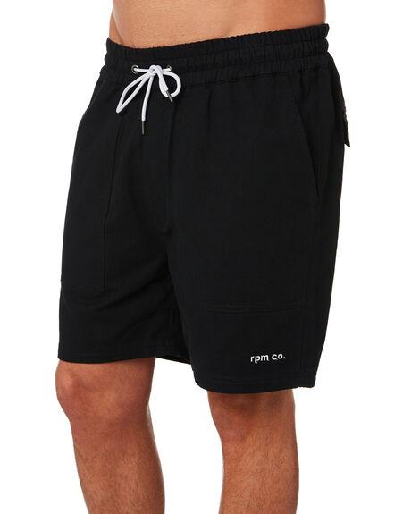 BLACK MENS CLOTHING RPM SHORTS - 9PMB05ABLK