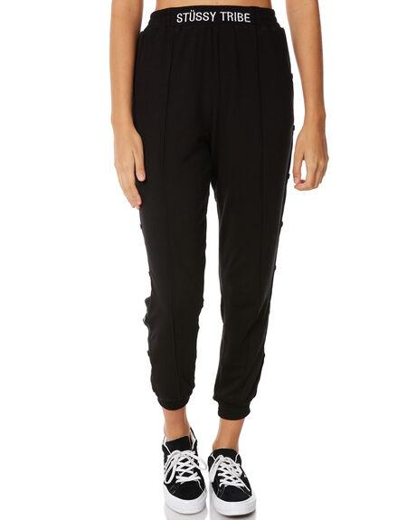 BLACK WOMENS CLOTHING STUSSY PANTS - ST185A09BLK