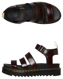 CHERRY RED WOMENS FOOTWEAR DR. MARTENS FASHION SANDALS - SS23807600CREDW