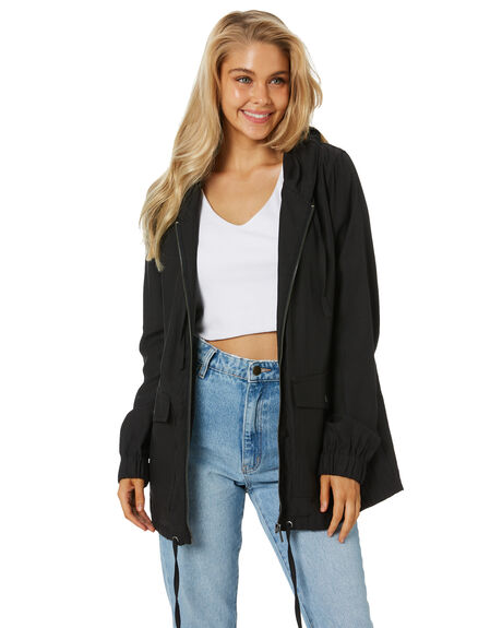BLACK WOMENS CLOTHING RPM JACKETS - 21AW16ABLK