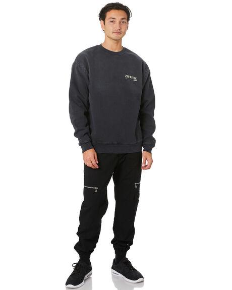BLACK MENS CLOTHING ZANEROBE JUMPERS - 404-FLDIBLK