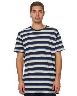 BLUE STRIPE MENS CLOTHING BARNEY COOLS TEES - 101-MC3BSTRP