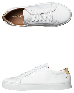 WHITE WOMENS FOOTWEAR WINDSOR SMITH SNEAKERS - 8229WSWHT