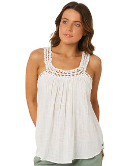 WHITE WOMENS CLOTHING RIP CURL FASHION TOPS - GSHDG11000