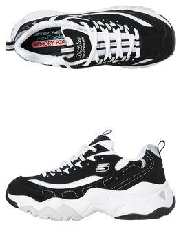 BLACK WOMENS FOOTWEAR SKECHERS SNEAKERS - 12955BKW