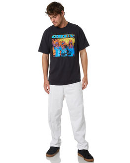 WHITE MENS CLOTHING OBEY PANTS - 142020131WHT