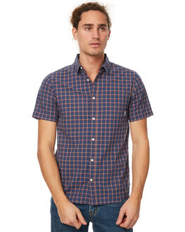 DARK DENIM CHECK MENS CLOTHING QUIKSILVER SHIRTS - EQYWT03572BRQ1