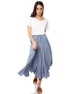BLUE WOMENS CLOTHING TIGERLILY SKIRTS - T381278BLU