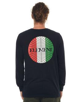 FLINT BLACK MENS CLOTHING ELEMENT TEES - 174051FBLK
