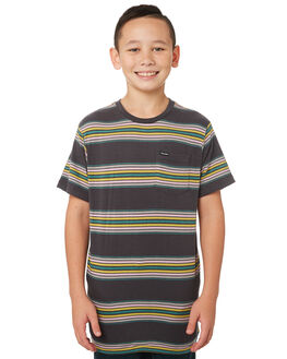ASPHALT BLACK KIDS BOYS VOLCOM TOPS - C0141802ASB