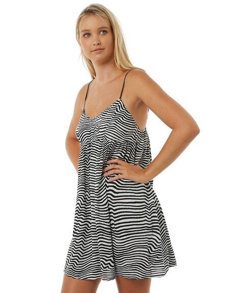 BLACK WHITE WOMENS CLOTHING VOLCOM DRESSES - B1311807BWH