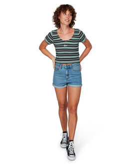 EVERGREEN WOMENS CLOTHING RVCA TEES - RV-R292701-E22