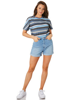 SEA BLUE WOMENS CLOTHING RUSTY TEES - TTL1035SEA