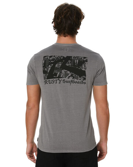 FROST GREY MENS CLOTHING RUSTY TEES - TTM2418FGR