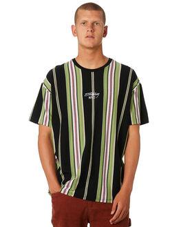 BLACK MENS CLOTHING STUSSY TEES - ST096108BLACK