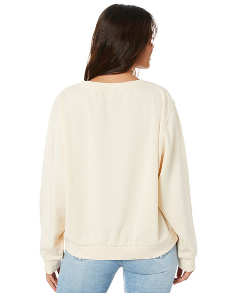 CREAM WOMENS CLOTHING RIP CURL JUMPERS - GFEAT90082