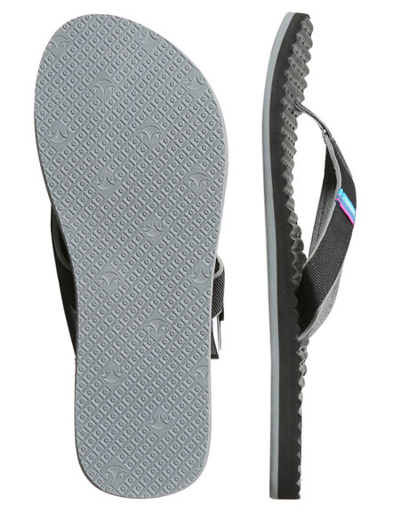 BLACK WOMENS FOOTWEAR FREEWATERS THONGS - WO-004BLK