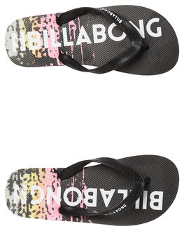 BLACK KIDS BOYS BILLABONG THONGS - 8681938BLK