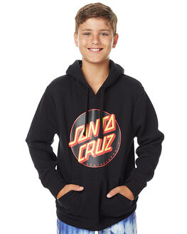 BLACK KIDS BOYS SANTA CRUZ JUMPERS - SC-YFNC009BLK
