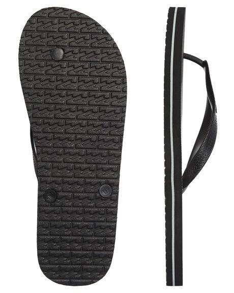 BLACK MENS FOOTWEAR BILLABONG THONGS - 9681940BLK