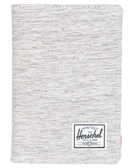 LIGHT GREY XHATCH MENS ACCESSORIES HERSCHEL SUPPLY CO WALLETS - 10373-01460-OSGRYX