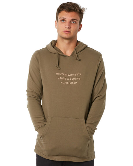 OLIVE MENS CLOTHING RHYTHM JUMPERS - JUL18M-FL04OLI