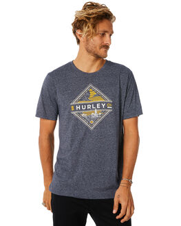 OBSIDIAN HEATHER MENS CLOTHING HURLEY TEES - AO8835473