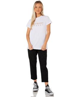 WHITE WOMENS CLOTHING STUSSY TEES - ST187019WHT