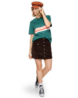 FOREST GREEN WOMENS CLOTHING ELEMENT TEES - 293004FGRN
