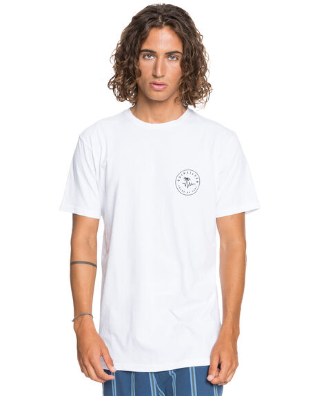 WHITE MENS CLOTHING QUIKSILVER TEES - EQYZT06215-WBB0